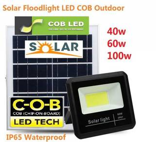 Solar Floodlight 40w 60w 100w LED COB Outdoor