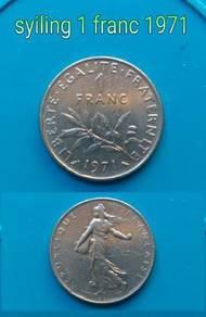 Syiling 1 france 1971