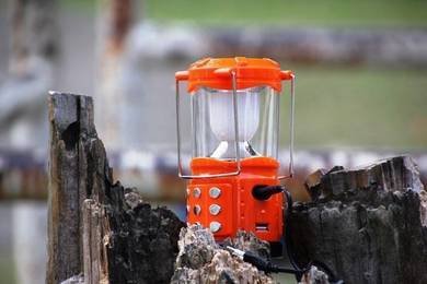 Rechargeable camping lantern jy-180-4 (orange)