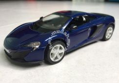 Mclaren 650s 1:36 diecast model car (blue)