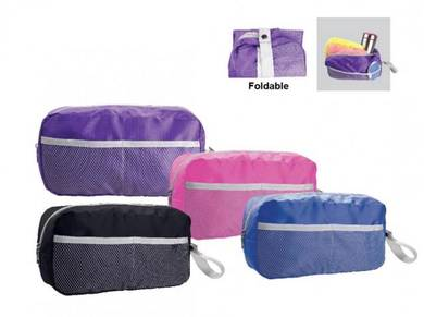 Foldable toiletries cosmestic bag