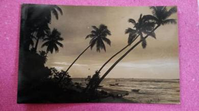 Antik Postcard PENANG Sunrise 1920s No 298 RARE