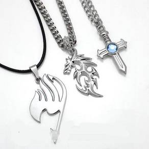 Anime fairy tail 2 in 1 Ring Necklace Alloy