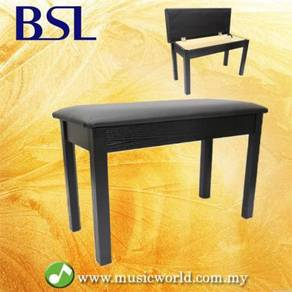 Bsl q100h black piano bench leather padded double