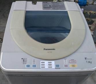 Panasonic 7kg washing machine mecin basuh