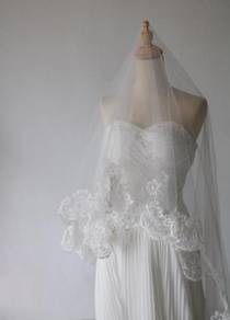 Lace long veil 3 meter (new)