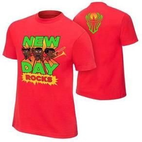 WWE WWF T Shirt (New Day) Baju Wrestling Gusti