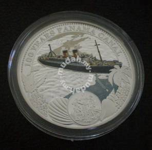 100 Years Panama Canal 2 Dollars Silver Coin