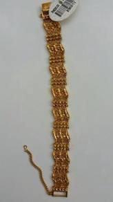 Gold plated bracelet / rantai emas saduran zhulian