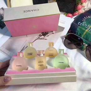 Chanel set perfume 5in1