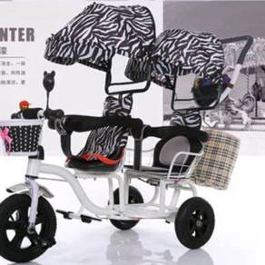Tricycle Double Stroller Trolley