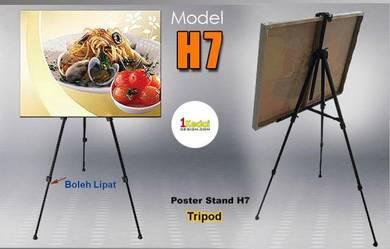 Poster Stand Lipat Model H7