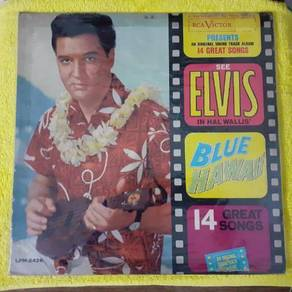 EEQ lp Elvis Blue Hawaii piring hitam vinyl