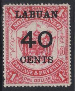 Labuan 1895 surch sg79 mint cat 50 bk121