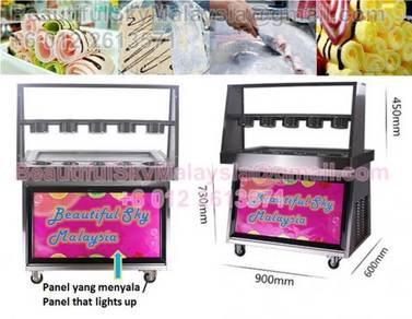 Mesin Icecream Gulung Aiskrim Korea Ice Cream Roll