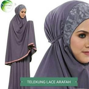 Telekung lace arafah