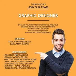 Graphic designer and sosial media marketing team