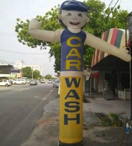 Car Wash Sky man puppet kain patung cartoon kartun