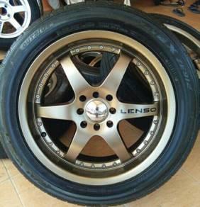 Lenso 17x7jj 4x100 4x114 siap tyre