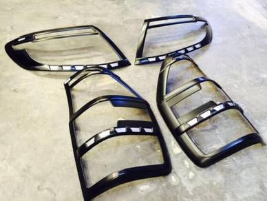 Ford ranger t5 T6 carbon cover head lamp tail lamp
