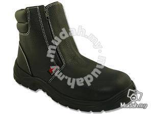 Safety Shoes Rhino Mid Cut Zip Up Black TP6300SP
