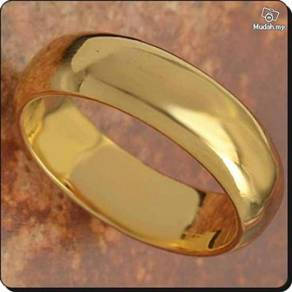 ABRGF-P001 9k Gold Filled Smooth Plain Ring Size 7