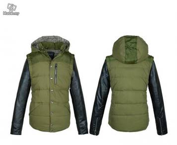 Stitching men's jacket military coat jacket shirt