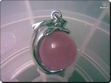 ABPWG-D004 Nice Ball Dolphin WG Necklace - Pink