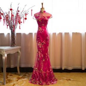 Cheongsam bodycon wedding bridesmaid prom dress