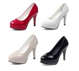 2743 Princess High heels waterproof leather shoes