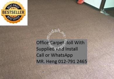 Classic Plain Design Carpet Roll with Install 31TZ