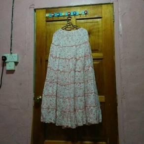 Skirt labuh flower comel
