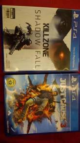 Ps4 games ( Kill zone shadow fall & Just cause 3)