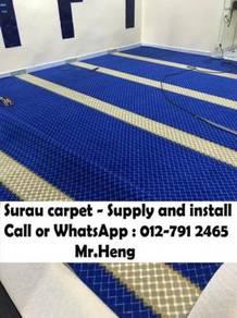 Classic Merah Carpet Surau Siap Pasang42EI