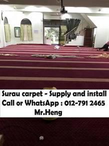 Classic Merah Carpet Surau Siap Pasang 75ZB