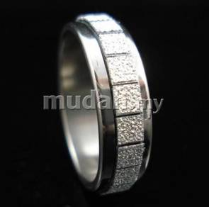ABRSS-3001 316L Fashion Stainless Ring Silver-Sz 6