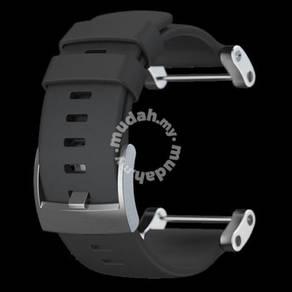 17 rag suunto core flat black silicone strap