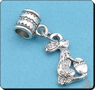 ABPSM-R001 Silver Lovely Rabbit Pendant Necklace