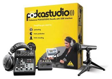 BEHRINGER PODCASTUDIO USB Recording Package