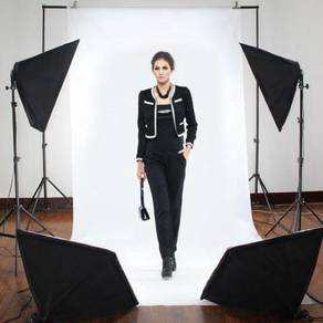 Photography Lighting SoftBox Stand Light Bulb 2Set