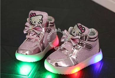 Cute Hello Kitty Shoes with LED Light