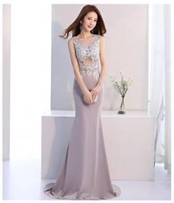 Grey evening prom dress gown RBP0516