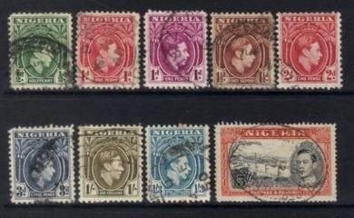 NIGERIA KGVI 1938 stamps BK897
