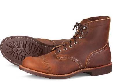 Work Boot Red Wing Men 6In Iron Ranger Copper 8085