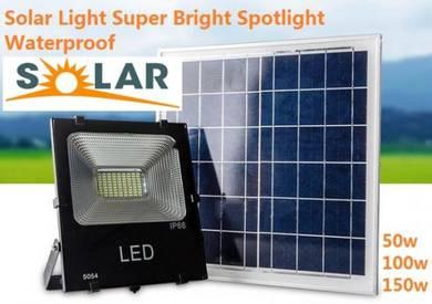 50W Solar LED Floodlight Cool White Remote Control