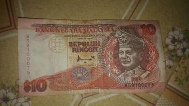 Jual duit syiling lama rm1 & rm10 lama kertas