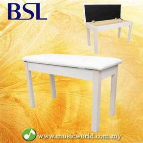 Bsl q100h white piano bench leather padded double
