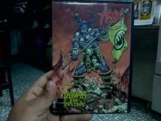 Dvd+cd hirax-trash & destroy