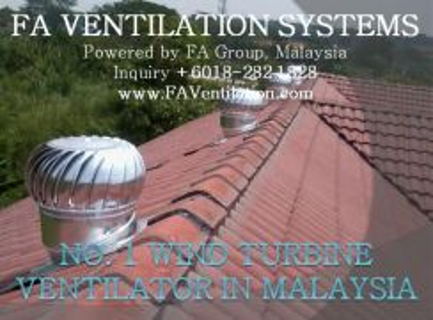 INDUSTRIAL HOME Wind Turbine Ventilator TERENGGANU