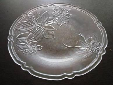 All New Crystal Platter Glass Plate